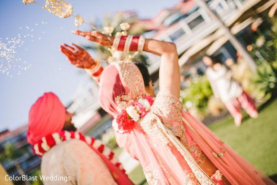 Rice throwing ceremony